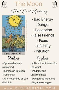 The Moon Tarot Meaning, The Moon Tarot Card, List Of Tarot Cards, Justice Tarot, Relationship Tarot, Rider Waite Tarot Cards, Tarot Cards For Beginners, Tarot Card Spreads, Tarot Astrology