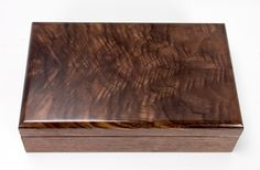 Black Walnut and Book matched Walnut Crotch Wood Valet Box - 1138 by vollmanwoodworking on Etsy