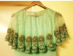 Cape Designs, New Blouse Designs, Saree Blouse Designs, Blouse Patterns, Blouse Styles, Pakistani Dresses, Indian Dresses, Indian Outfits, Indian Designer Outfits