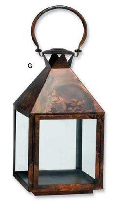 CrewLinens - Hurricane Lantern Burnished Copper