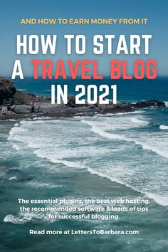 This is the most thorough guide you'll find online for starting a travel blog. In this long article, you will read about the essential plugins, the best web hosting for bloggers, the recommended software, and loads of tips for successful blogging. A step by step to starting a travel blog in 2021 in less than half an hour, plus loads of blogging monetization tips. #blog #blogger #travel #travelblogging #bloggingtips #travelblog #adventure #wanderlust Travel Around The World, Around The Worlds, Best Web, Earn Money, Traveling By Yourself, Blogging, Software, About Me Blog, Wanderlust