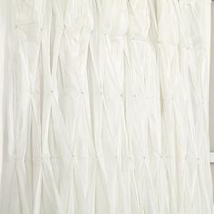Antique Chic Curtain Panels (White) | The Land of Nod