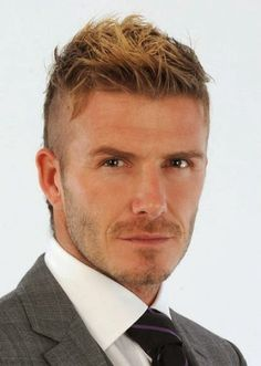 David Beckham Cool Messy and Undercut Short Hairstyle