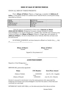 deed of sale of motor vehicle Motor Vehicle, Motor Car, Consent Letter Format, Lease Agreement Free Printable, Nanny Contract, Storing Fruit, Rational Numbers, Proposal Sample, Reading Passages