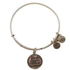 @Marina M this is the next one im getting.. I live by this quote! Obsessed!  What's For You Will Not Pass You Charm Bracelet | Alex and Ani