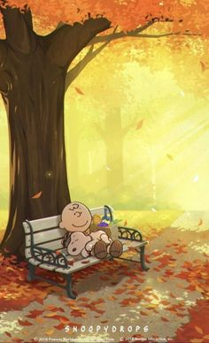 Charlie Brown and Snoopy -Autumn wallpaper Peanuts Cartoon, Peanuts Snoopy, Snoopy Und Woodstock, Dog Quotes Love, Funny Quotes, Snoopy Pictures, Funny Pictures, Funny Images, Snoopy Wallpaper