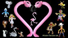 126  Balloon Animals Flamingo, Ballon Tiere Flamingo, Modellierballon Ballonfiguren Bird Vogel