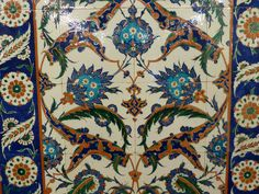 Selimiye mosque tile detail