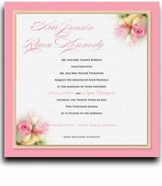 110 Square Wedding Invitations - Rose Pink Baby Twins by WeddingPaperMasters.com. $289.30. Now you can have it all! We have created, at incredible prices & outstanding quality, more than 300 gorgeous collections consisting of over 6000 beautiful pieces that are perfectly coordinated together to capture your vision without compromise. No more mixing and matching or having to compromise your look. We can provide you with one piece or an entire collection in a one ...