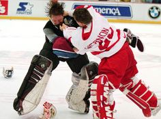 "The ""good old days"" of the Wings/Avs rivalry."