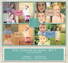 ATP. Color Actions SET 7 by AllThingsPrecious.deviantart.com on @DeviantArt