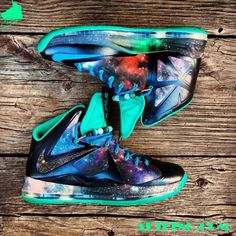 "Nike LeBron 10 ""King of the Cosmos"" Customs by Gourmet Kickz - SneakerNews.com"