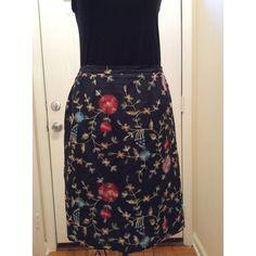 Silkland Petite Skirt In good condition.  100% pure silk.  Lining is 100% acetate Silkland  Skirts Midi