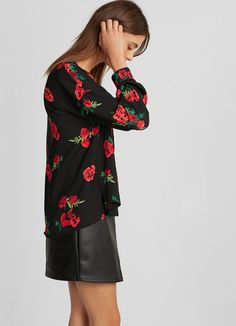 8f873aba243 Floral Popover Blouse  59.90 Express Fashion
