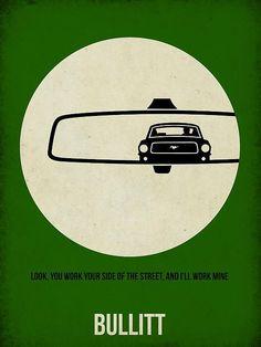 Film Wall Art - Painting - Bullitt Poster by Naxart Studio Frank Movie, Steeve Mcqueen, Illustration Photo, Car Posters, Poster Poster, Poster Fonts, Alternative Movie Posters, Automotive Art, Art Graphique