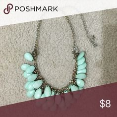 Statement Necklace Still in good condition. Mint color. Not as heavy as it looks! Francesca's Collections Jewelry Necklaces