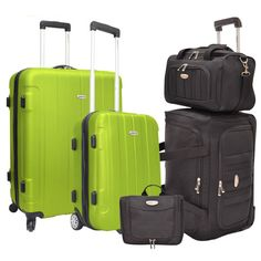 ONLY $100 W0W Traveler's Choice Rome 5-Piece Hardside and Softside Luggage Set