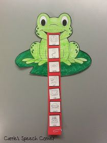 Carrie's Speech Corner: Articulation Frogs ~ A Craftivity The Big Wide-Mouthed Frog Articulation Therapy, Articulation Activities, Speech Therapy Activities, Language Activities, Preschool Activities, Play Therapy, Therapy Ideas, Speech Language Pathology, Speech And Language