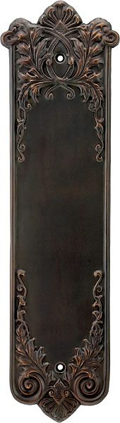 Lorraine Victorian Door Push Plate from House of Antique Hardware