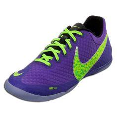675c3ec7775b Nike Elastico Finale II - Pure Purple Volt Electric Green Indoor Soccer  Shoes Soccer