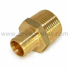 """100 1//2/"""" PEX Elbows Brass Crimp Fittings"""