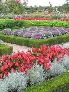 Potager Gardens - Be creative and do a raised bed potager garden! (Pronounced poe-ta-zhay), this became popular in the 16th century in France.  Get into this website and see the different layouts you could do on a smaller scale in your garden.