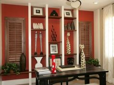 A touch of cayenne paint to spice up the at home work space...