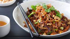 Restované soba nudle s uzeným tofu Japchae, Tofu, Ethnic Recipes