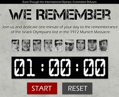 We Remember the Munich Massacre - Even Though the International Olympic Committee Refuses