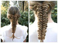 Mermaid tail braid tutorial - HairAndNailsInspiration