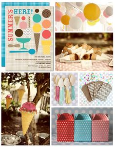 Ice Cream Party Inspiration Board