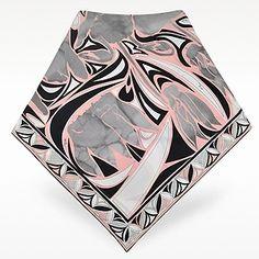 Emilio Pucci Ciclamini Printed Silk Square Scarf