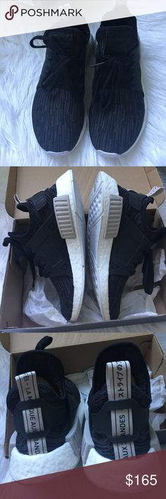 Adidas NMD 6 women's Black primeknit xr1. Used about 5x. Bottom shows the most wear! Otherwise in really great condition! Please feel free to ask questions, or for more pictures before purchasing. These are rare and hard to find. Offers welcome. Please research your size. NMD's run big! adidas Shoes Sneakers