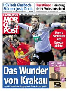 #20160201 #Germany #GermanNEWSpaperToday #DeutscheZEITUNGenHEUTE #Morgenpost Montag 1 Februar 2016 http://en.kiosko.net/de/2016-02-01/np/h_morgen_post.html