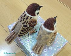 December ~ Advent ~ Week Three: The Light of Bird & Beast ~ Needle Felted Birds ~ Shows wings and tail structure