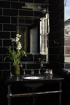 Black luxury bathroom design ideas. See more inspirations at homedecorideas.eu/ #homedecorideas #bathroom #luxuryhomes modern design, interior design, luxury interior design .