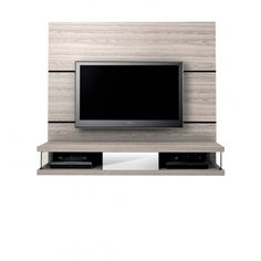 Beautiful floating entertainment system. Manhattan Comfort 2- Shelf, 1- Drawer Metropolitan Entertainment Center in Nature White/ Pro Touch - MHF22323