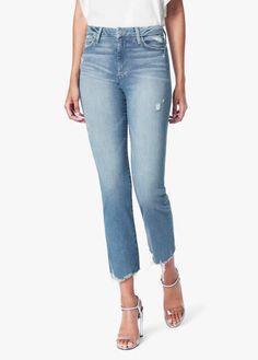 Joe's Jeans The Hi Honey Cropped Bootcut Jeans in Nettle Women - Bloomingdale's Shops, Look Thinner, Denim Shop, Denim Trends, Fashion Tips For Women, Fashion Ideas, Curvy Fit, Sleek Look, Colored Denim