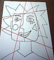 cubism like picasso portrait