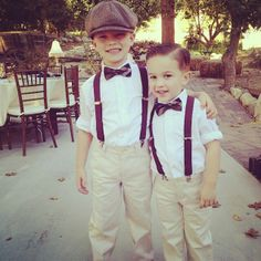 Vintage ring bearers, rustic wedding.