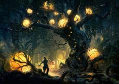 Concept Art by Tuomas Korpi Eline feneri aldığında tüm gizli gezegenler birer birer yanmaya başladı.