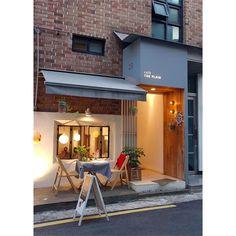 Interior Design For Bathroom Facade Design, Exterior Design, Brick Design, Cafe Exterior, Design Food, Cozy Cafe, Café Bar, Design Typography, Bistro