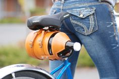 Leather Bike Growler Carrier by Meriwether of Montana | Meriwether of Montana