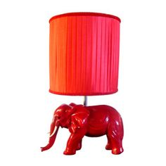 Red Elephant Lamp -