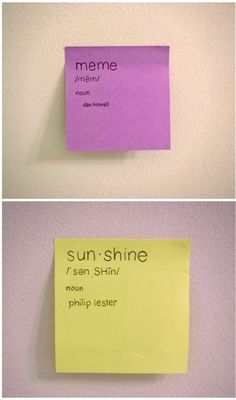 I want these in my life. I don't have any post-its :(