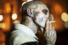 by Rick Genest #smoking