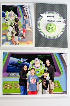 Disney Tomorrowland Meet and Greet with Buzz Light Year hybrid project life by carolee featuring Project Mouse (Tomorrow) by Britt-ish Designs and Sahlin Studio