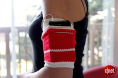 DIY Armband for Cell Phone - Ok, seriously??? I've been searching for an arm band that will fit my phone with the case on it. I'm hitting my sock drawer...
