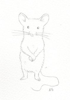 Line drawing for a children's book I'm working on about a little orphan mouse.