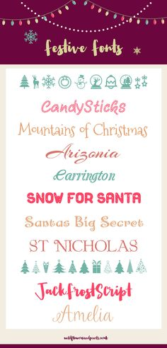 11 Festive Christmas Fonts To Brighten Up Your Christmas Designs                                                                                                                                                                                 More